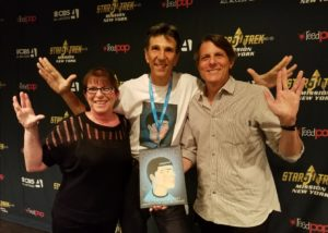 Julie and Adam Nimoy with Richard Michelson